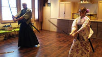 Authentic Japanese Sword Experience with Tea Ceremony, Japanese Calligraphy and Kimono Fitting Options
