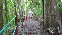 Combination Tour with Hanging Bridges Waterfall Volcano Hike and Hot Springs