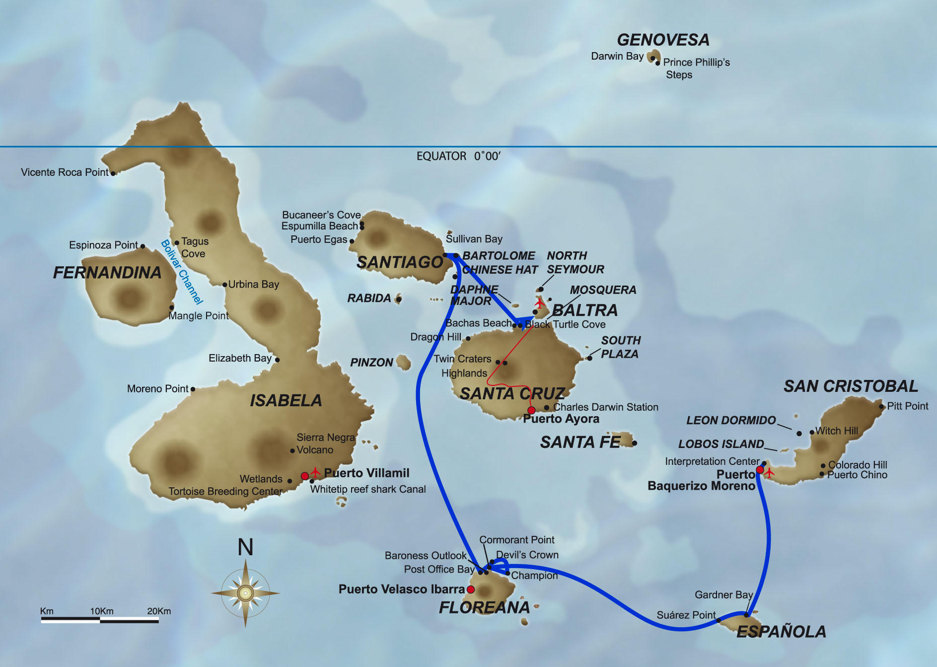 Galapagos Islands Cruise Day Tour In The Galápagos Islands - 5 day cruises
