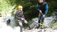 Canyoning in the Fratarica Canyon of the Soca valley