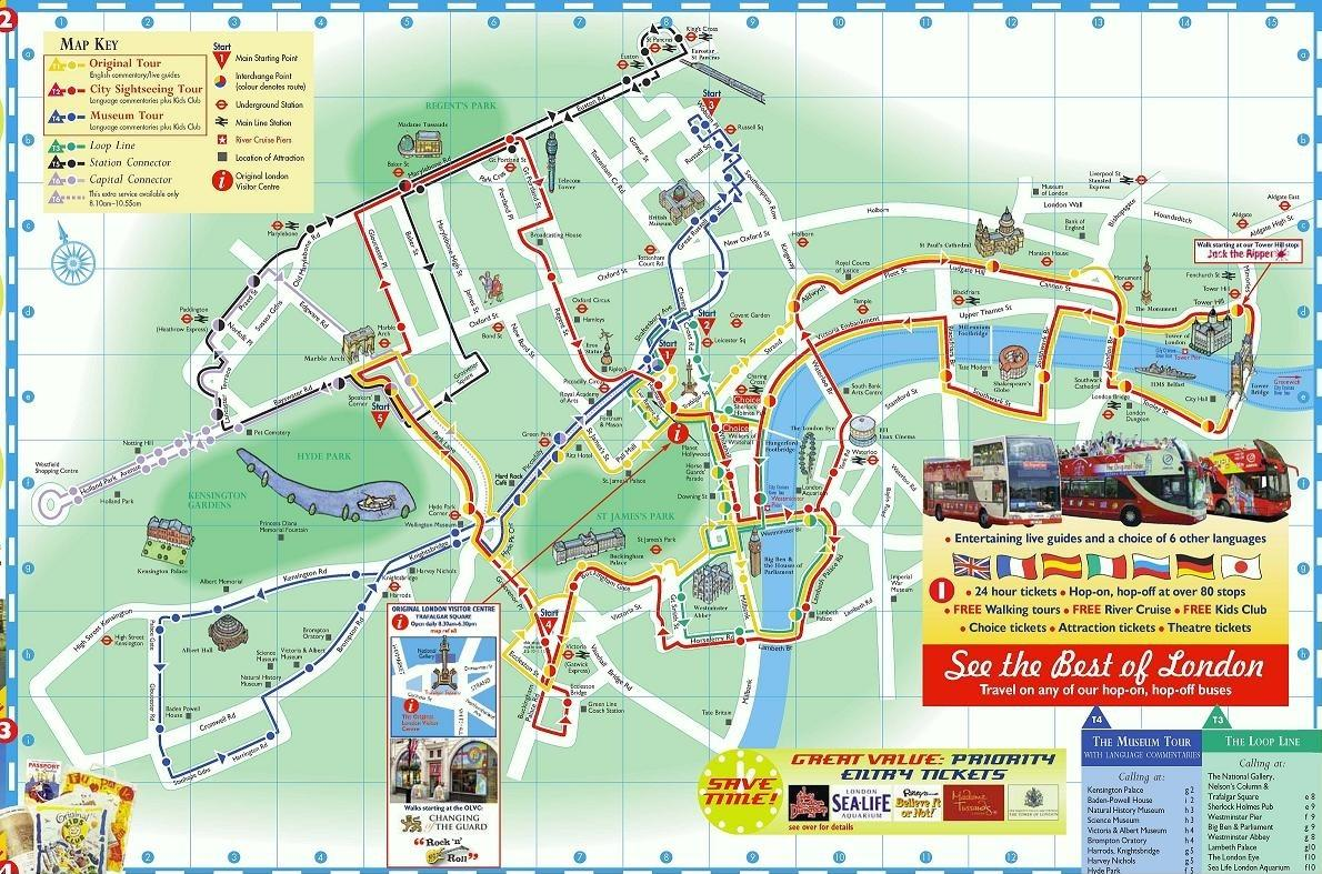 Map of London Day Trip from Paris by Eurostar