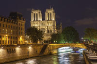 Paris by Night: Dinner at Les Ombres, Seine River Sightseeing Cruise and Cabaret Show