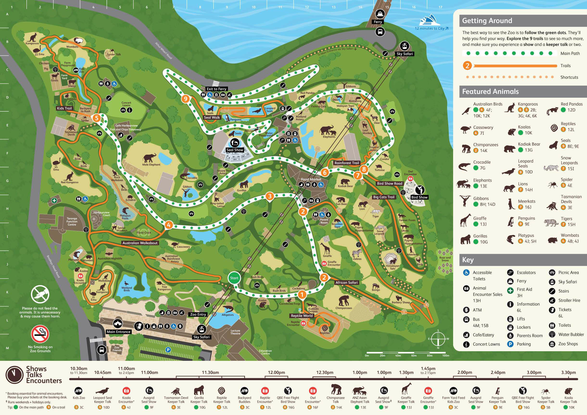 Map of Sydney Taronga Zoo General Entry Ticket and Wild Australia Experience