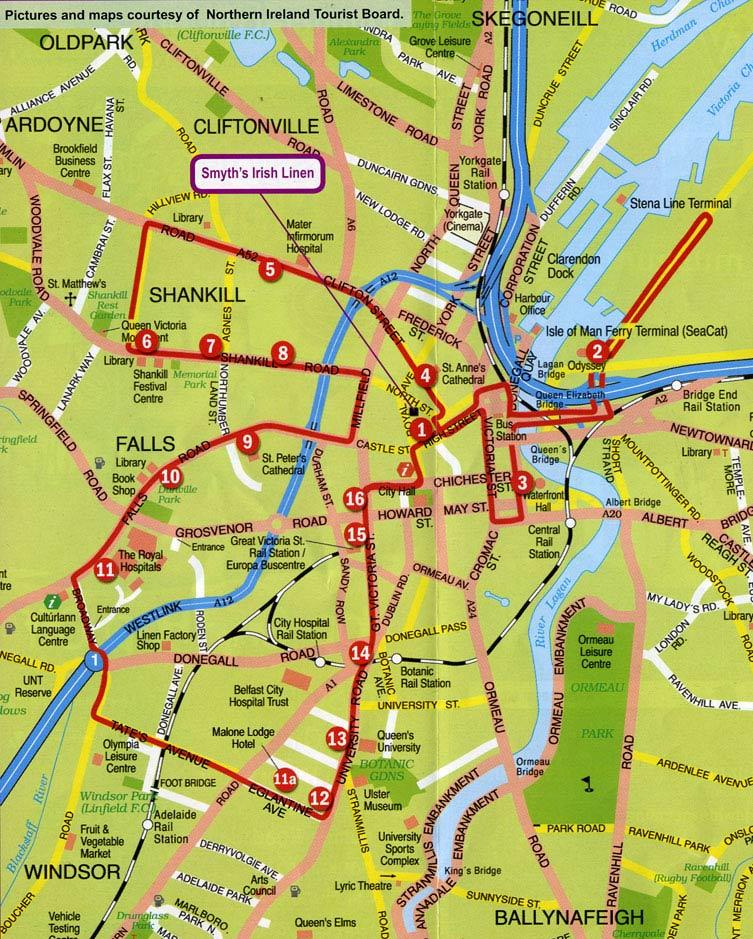 Belfast Shore Excursion City Sightseeing HopOn HopOff Tour in