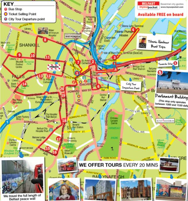 Belfast City Sightseeing Hop On Hop Off Bus Tour 48Hour Pass in