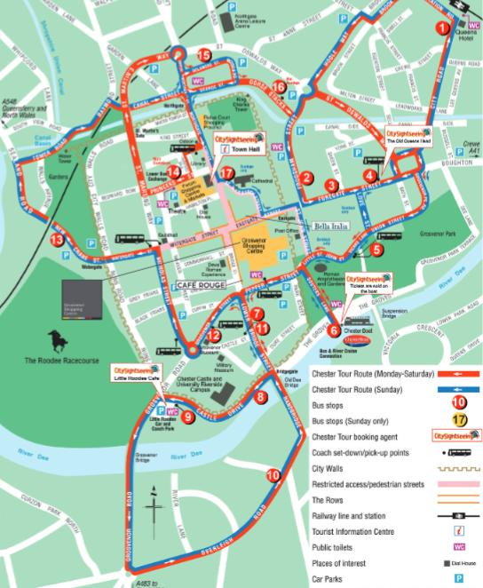 Chester City Sightseeing HopOn HopOff Bus Tour in WORLD Lonely