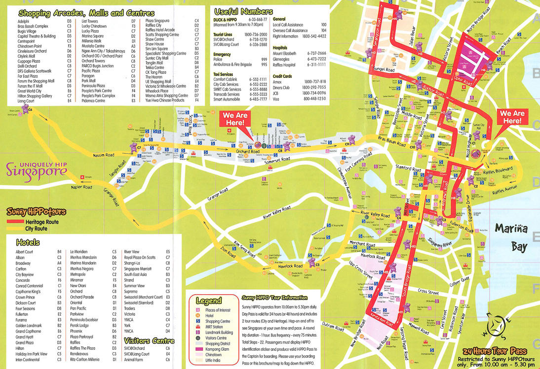 City Sightseeing Singapore HopOn HopOff Tour in Singapore – Tourist Map Of Singapore City