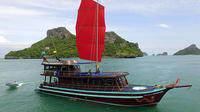 Private Charter: Red Dragon Traditional Junk Sail Yacht 75ft to Ang Thong Marine Park