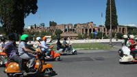 Rome Sightseeing by Vespa and Food Tasting Walking Tour