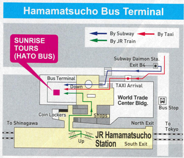 Map of Mt. Fuji, Lake Ashi and Bullet Train Day Tour from Tokyo