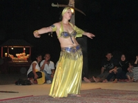 4x4 Dubai Desert Safari from Abu Dhabi with Camel Ride, Dinner and Belly Dancing Performance