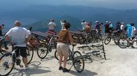 Epic '25 Turns' Bike Descent with panoramic views of Montenegro
