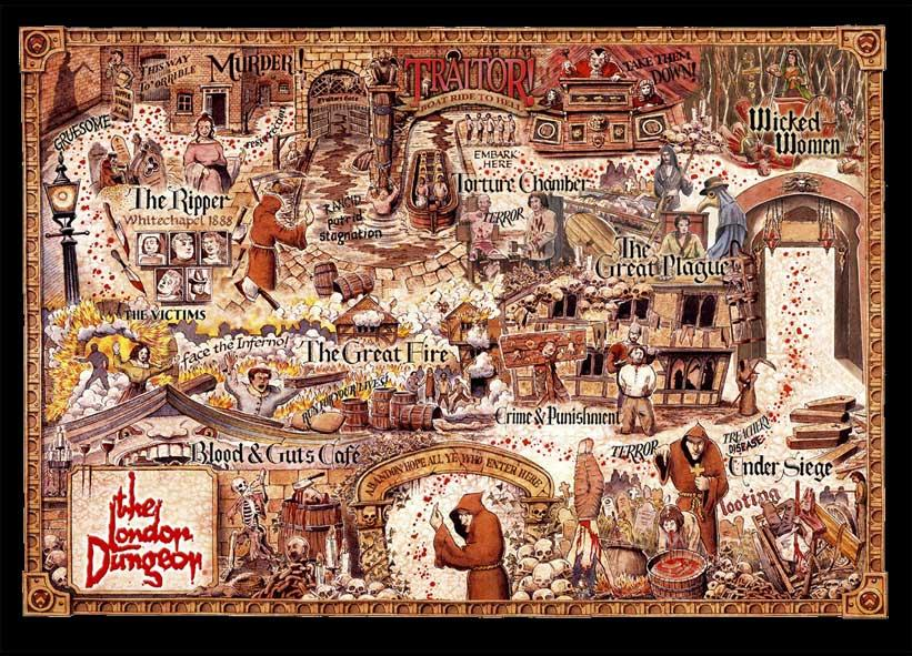 Map of London Dungeon Entrance Ticket