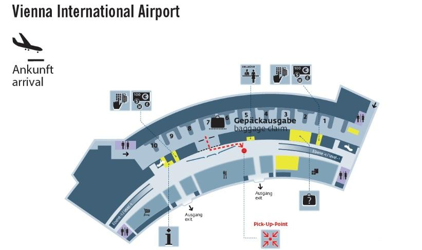 Map of Vienna Airport Private Arrival Transfer