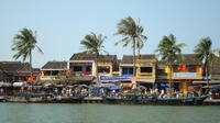 Local sea food dishes from the vendors on the sidewalk of Hoi An by bike