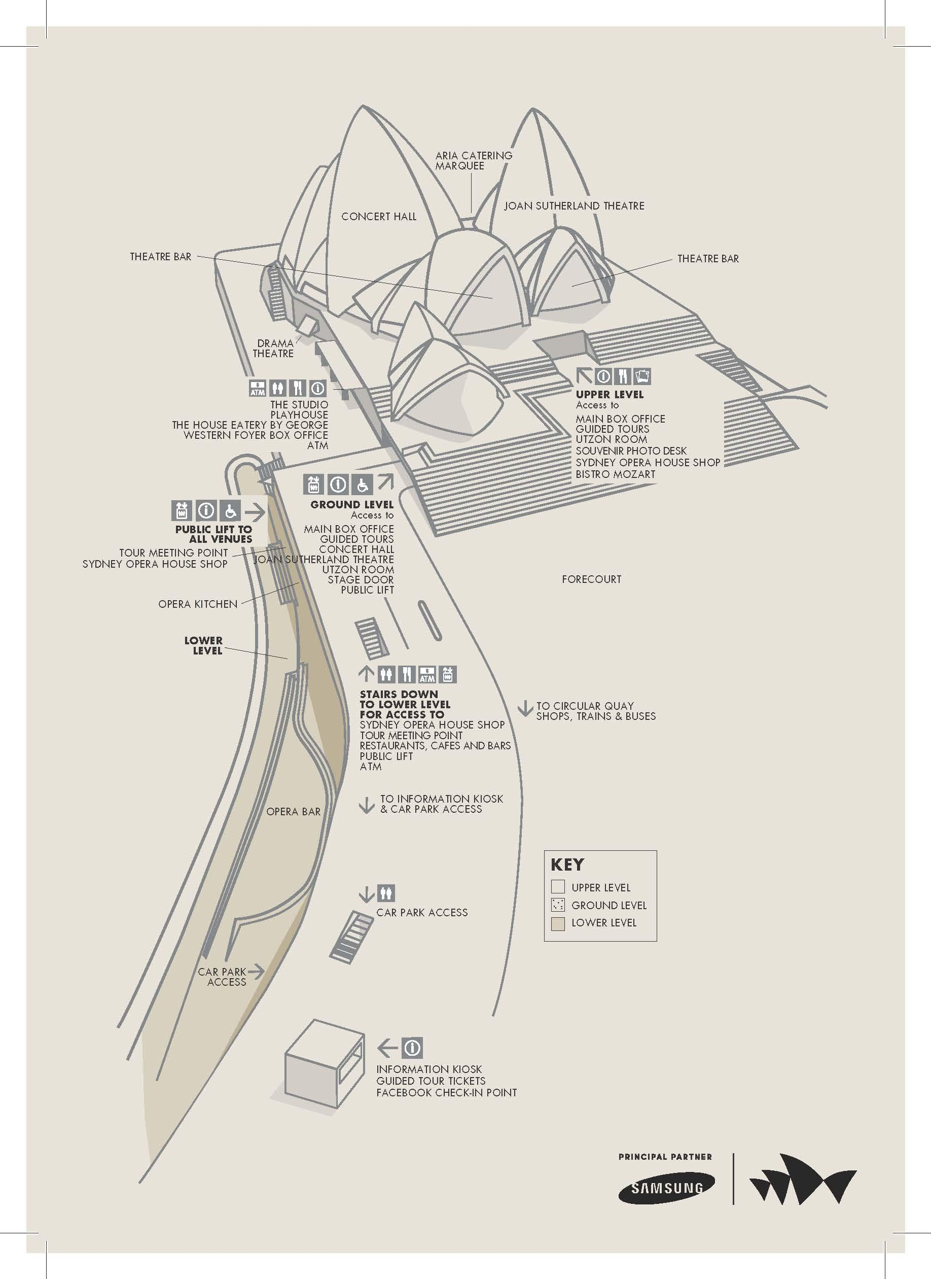 Map of Sydney Opera House Guided Walking Tour