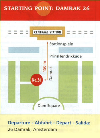 Map of Amsterdam Red Light District Walking Tour