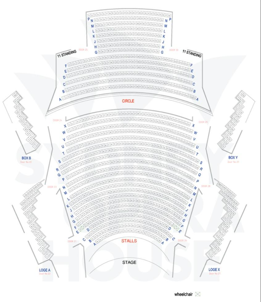 Map of New Year's Eve Opera Performance at the Sydney Opera House