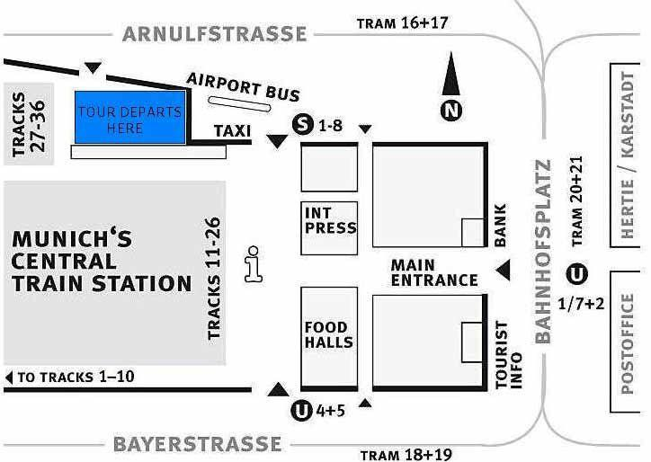 Map of Small-Group Dachau Concentration Camp Memorial Site Tour from Munich