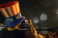 4th of July Fireworks Viewing Party on New York City's Hudson River Pier