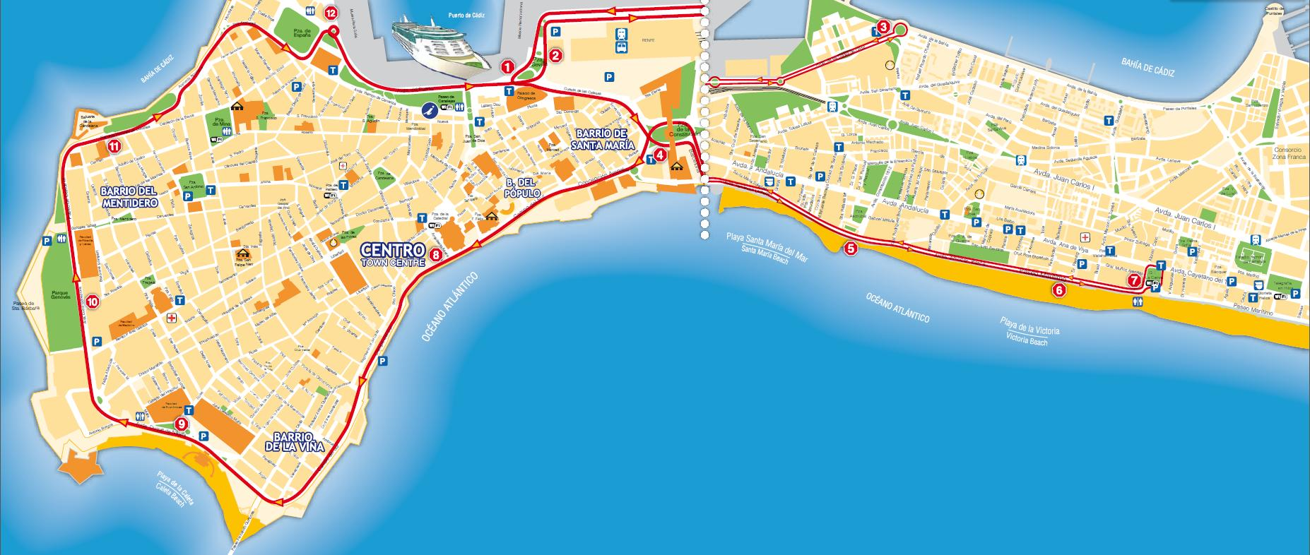 Cadiz City Sightseeing Hop-On Hop-Off Bus Tour - Lonely Planet