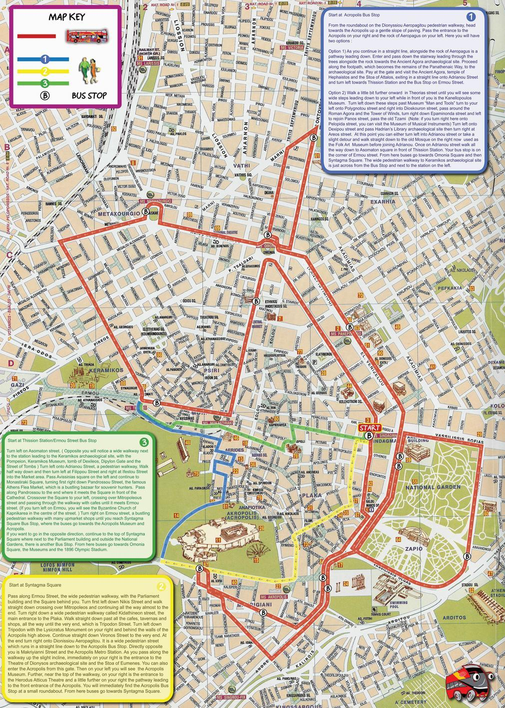 City Sightseeing Athens HopOn HopOff Tour TravelToe – Athens Tourist Attractions Map