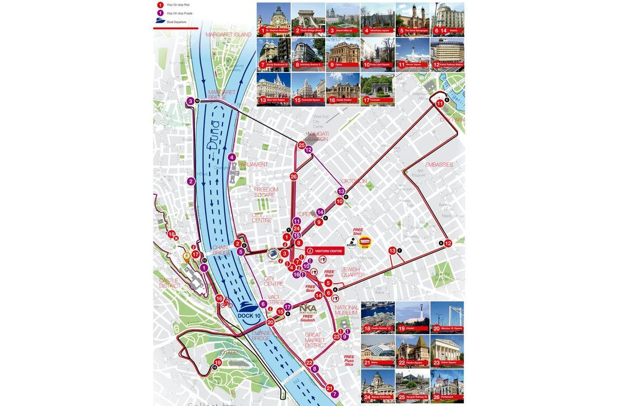 Budapest City Sightseeing Bus Tour with Boat Ride Option in Budapest
