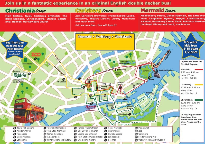 Hopon Hopoff Tour Copenhagen Denmark Emerald Princess Baltic – Copenhagen Map Tourist