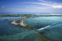Helicopter Flight Over Florida Keys Photo