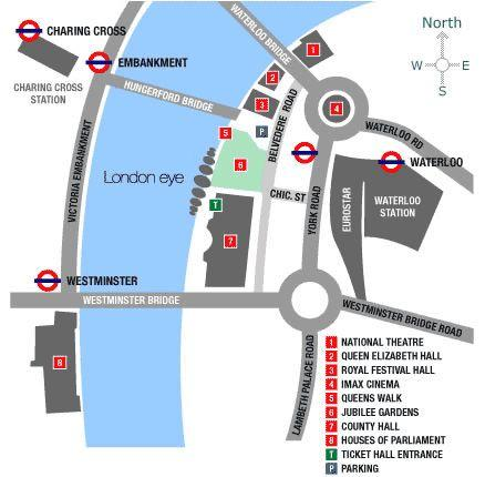 Map of London Eye: Champagne Experience