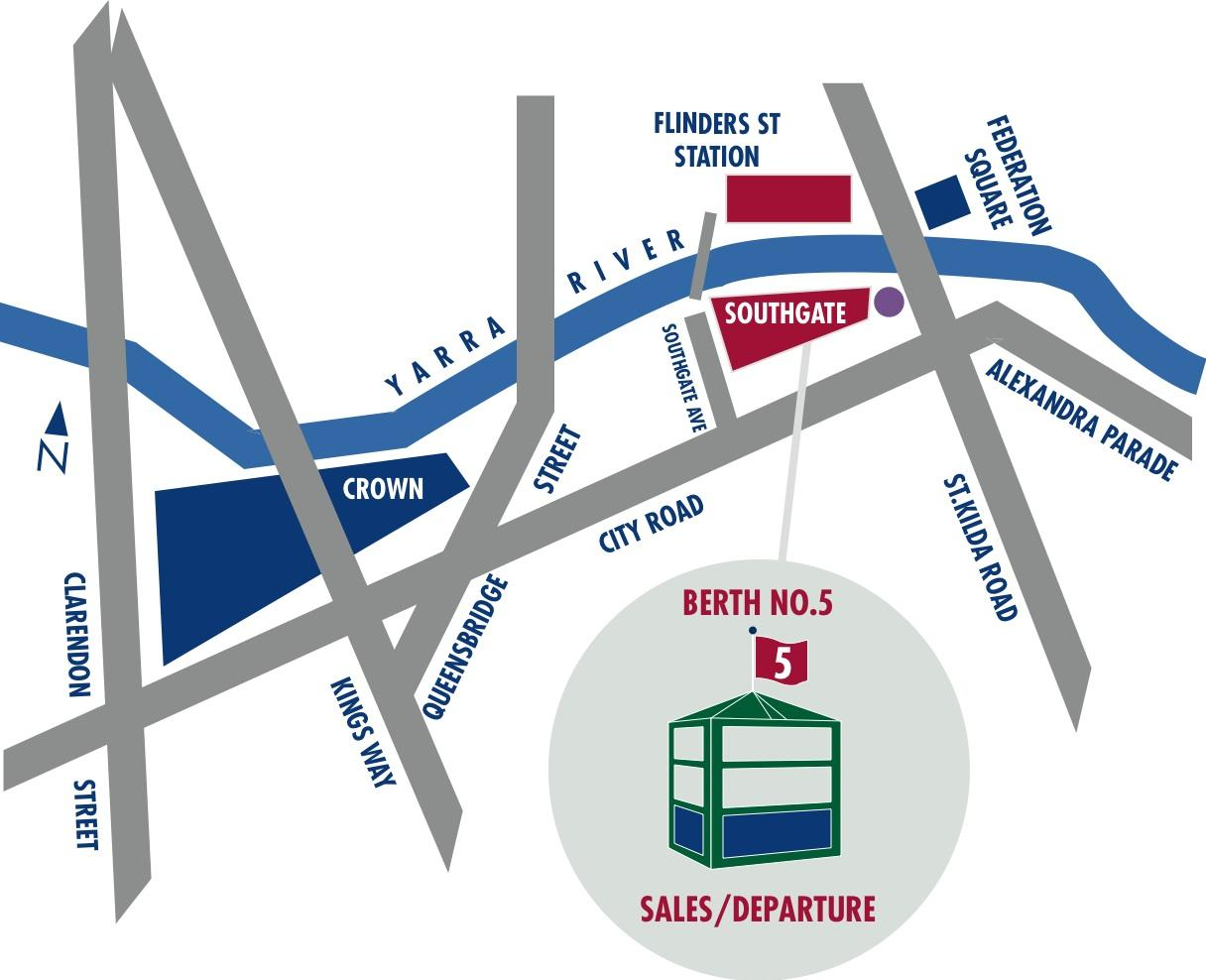 Map of Port of Melbourne and Docklands Sightseeing Cruise