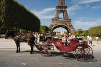 Romantic Horse and Carriage Ride through Paris