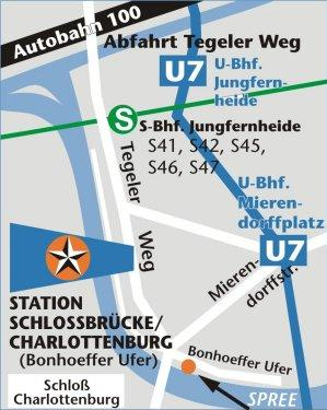 Map of Berlin Sightseeing Cruise on the River Spree