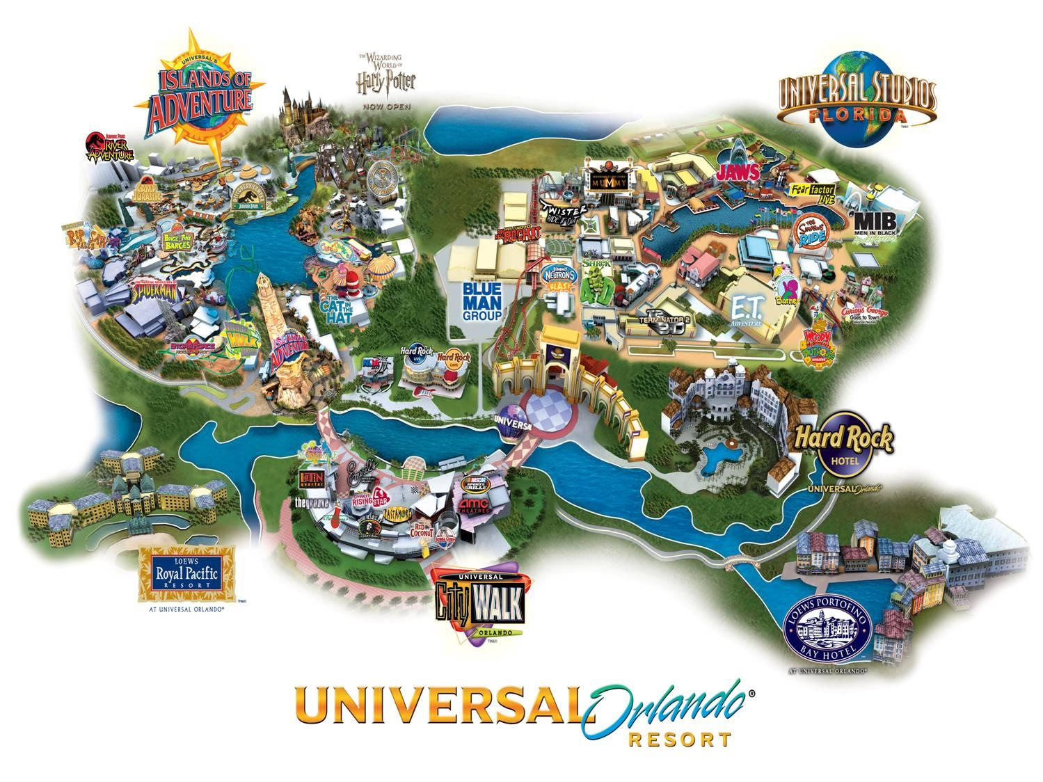 Universal Orlando Park Ticket In Florida Lonely Planet - Map of all us theme parks