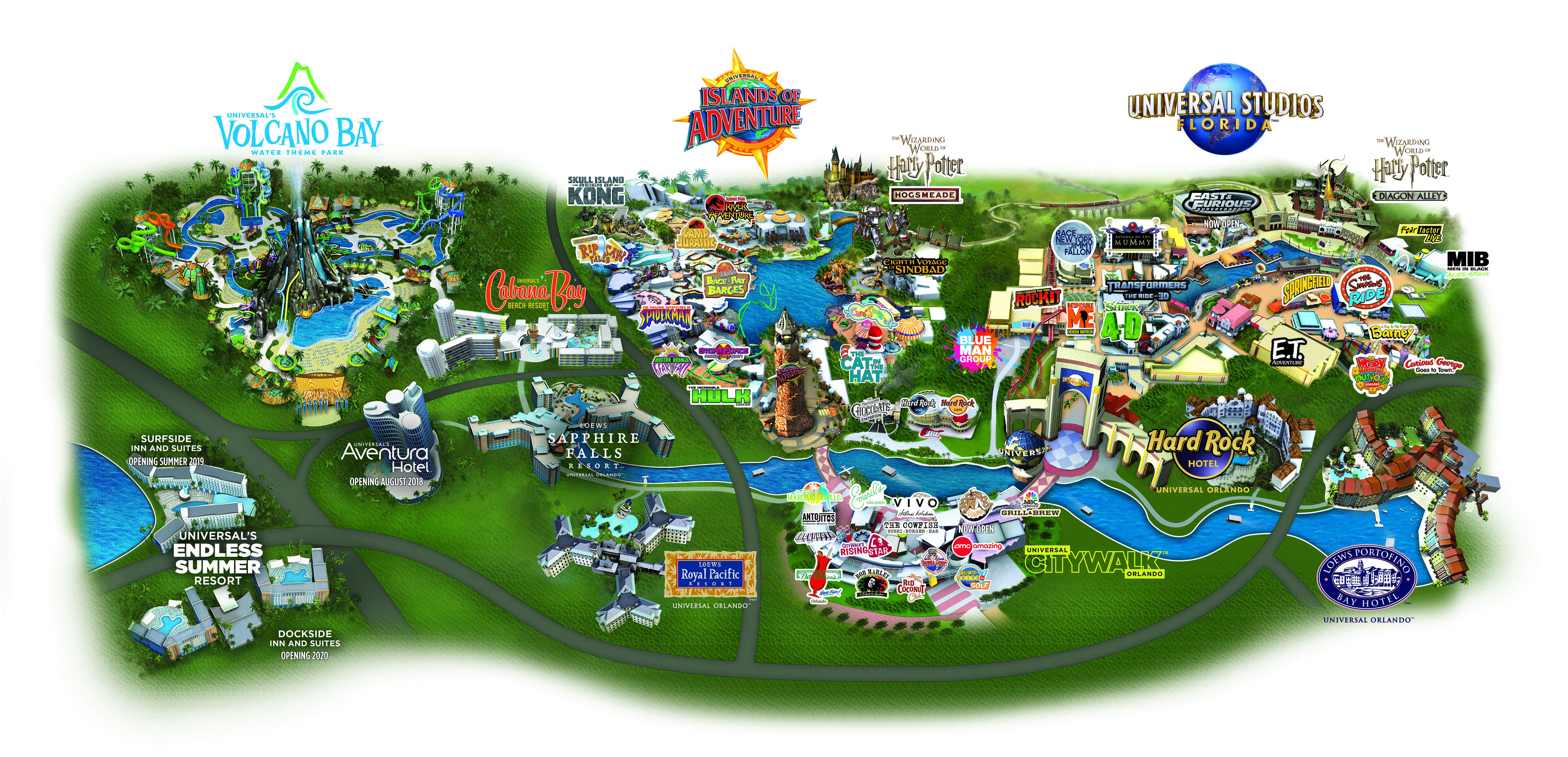 Map of Universal Orlando Tickets - USA / Canada Residents