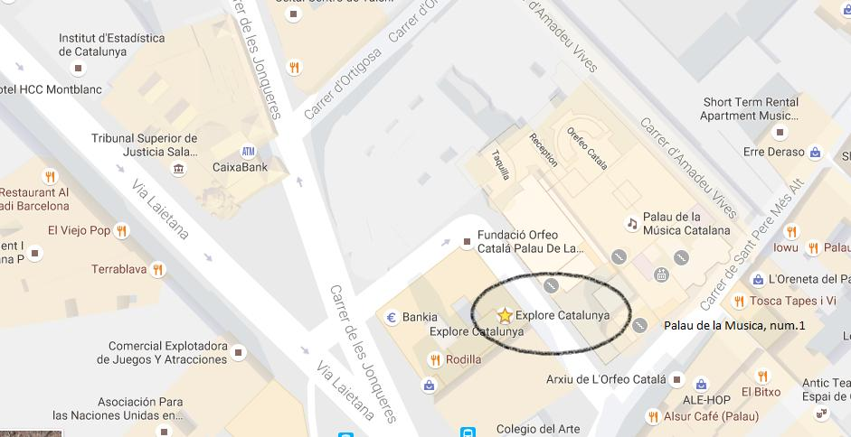 Map of Tarragona and Sitges Private Day Trip from Barcelona