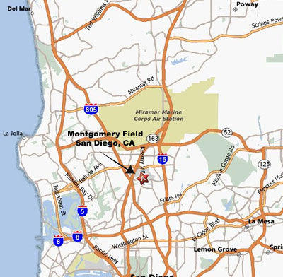 Map of Open Cockpit Biplane Sightseeing Ride in San Diego