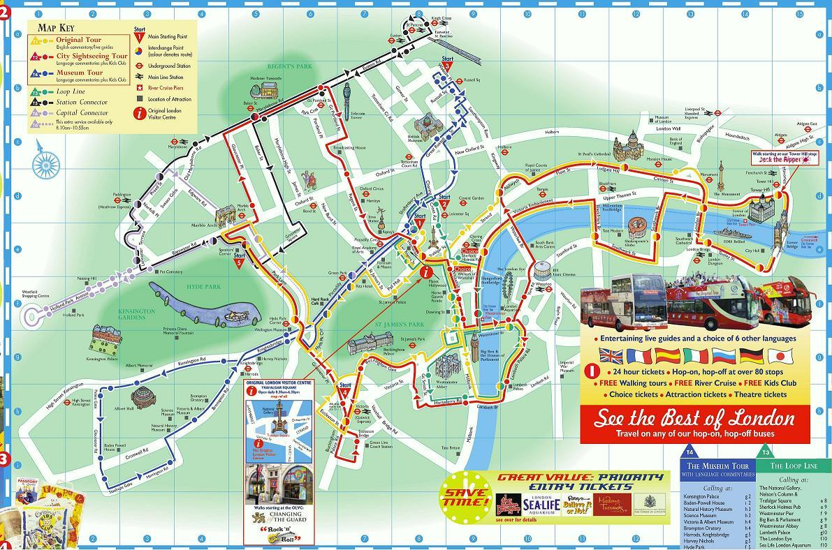 The Original London Sightseeing Bus Tour with River Cruise in London