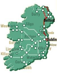 Map Of Ireland Giants Causeway.Northern Ireland Rail Tour With Giant S Causeway From Dublin