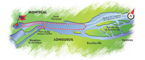 Map of Montreal Guided Sightseeing Cruise