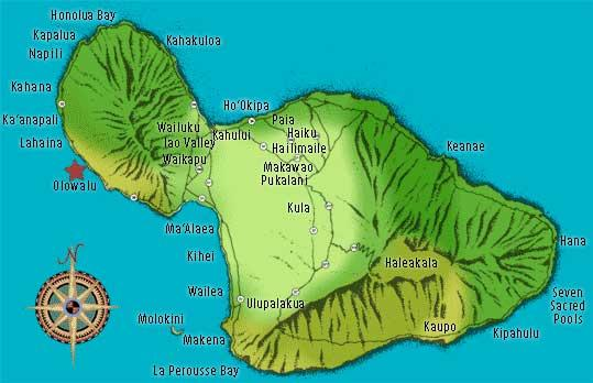 Map of Pali Sea Cliff Kayak Discovery