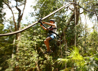 4-in-1 Tulum Adventure: Zipline, Cavern Rappel, Cave Snorkel and Skycycle