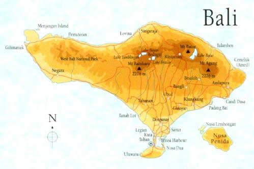 Map of Balinese Cooking Demonstration and Gulingan Village Countryside Tour