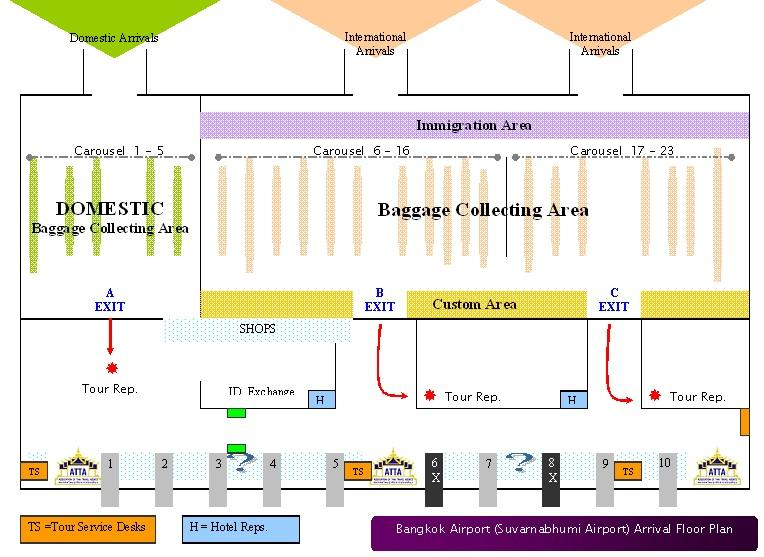 Map of Private Arrival Transfer: Bangkok Airport to Hotel