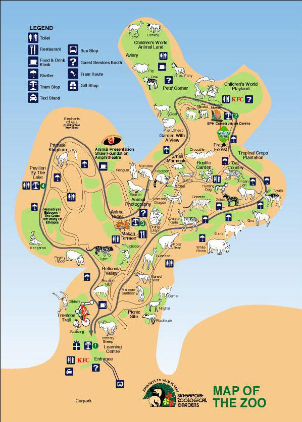 Singapore zoo with transfer breakfast with orangutans option in map of singapore zoo with transfer breakfast with orangutans option publicscrutiny Images