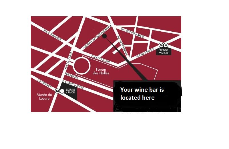 Map of French Wine Tasting in Paris