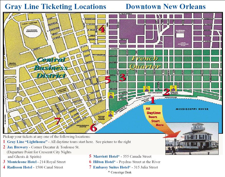 Swamp and Bayou Sightseeing Tour with Boat Ride in New Orleans – New Orleans French Quarter Tourist Map