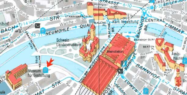 Map of Rhine Falls Tour from Zurich