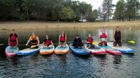 Group Paddleboard Lesson on Summerville Lake WV