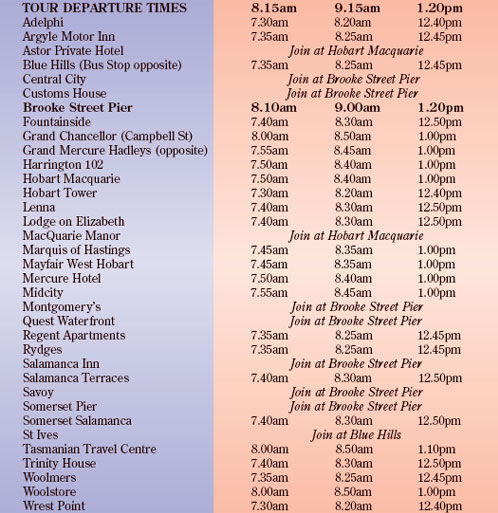 Map of Huon Valley and Tahune Forest Airwalk Tour from Hobart